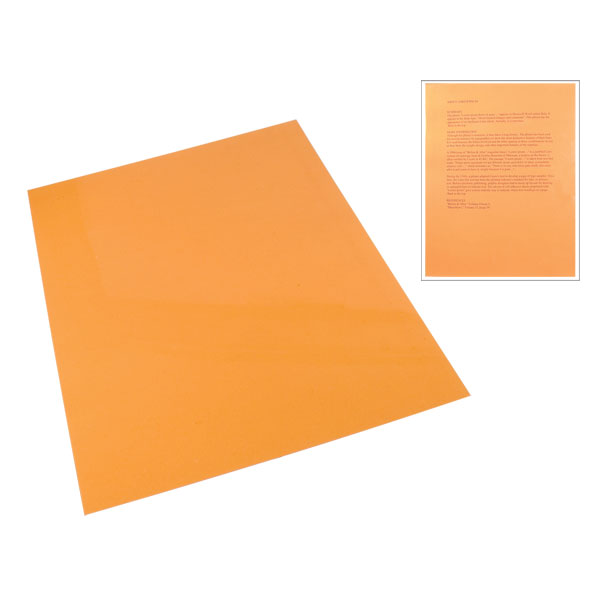 Orange Tinted Plastic Reading Sheet
