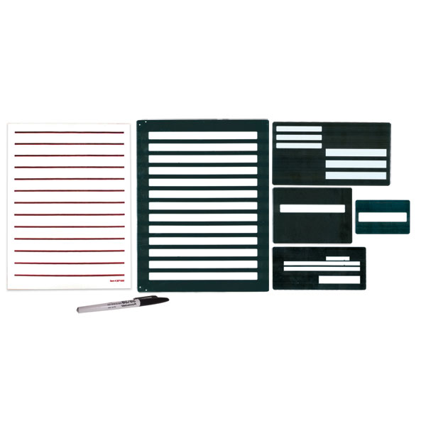 Metal Writing Guide Kit with BoldWriter 20 Pen and Low Vision Paper