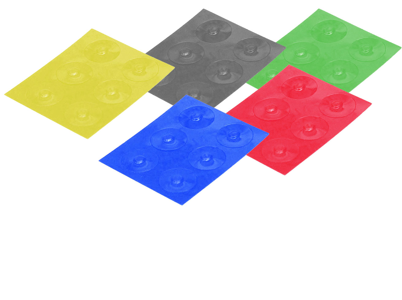 Color-Dots Tactile Key Locators - Set of 30 - 6 of each color