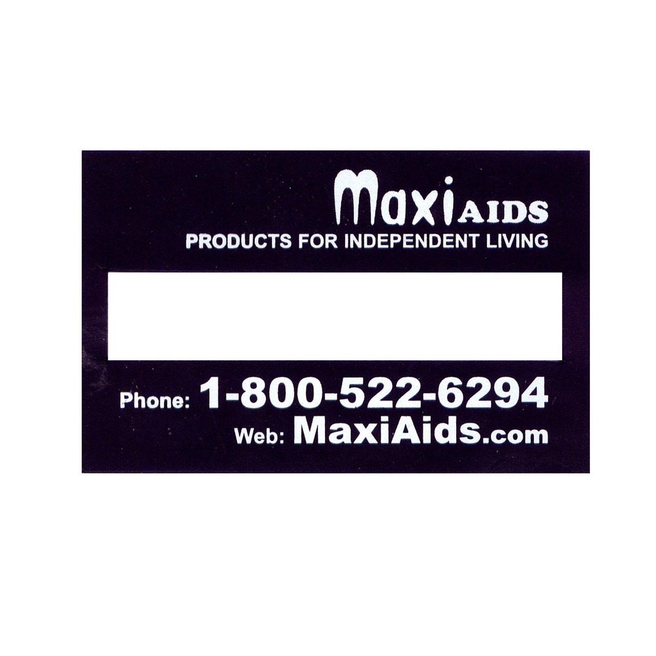 Signature Guide - Regular Black Plastic - MaxiAids Logo