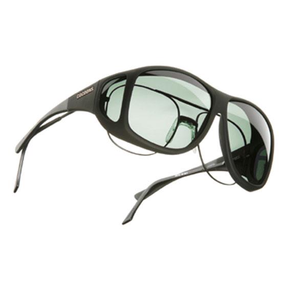 Cocoons XL Aviator OveRx Sunwear-Blk Fr-Gray Lens