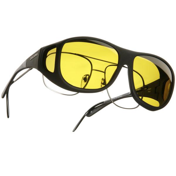Cocoons L Pilot OveRx Sunwear-Black Fr-Yellow Lens