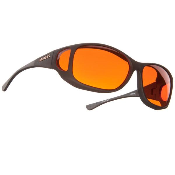 Cocoons Low Vision MX-Black Fr-Orange Lens