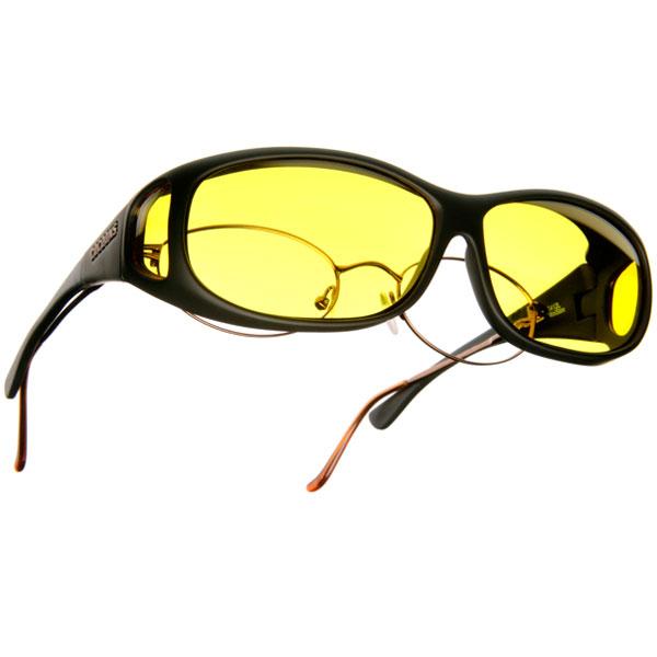 Cocoons Low Vision MS- Black Frame- Lemon Lens