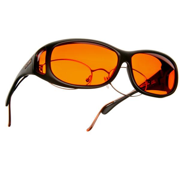 Cocoons Low Vision MS-Black Frame-Orange Lens