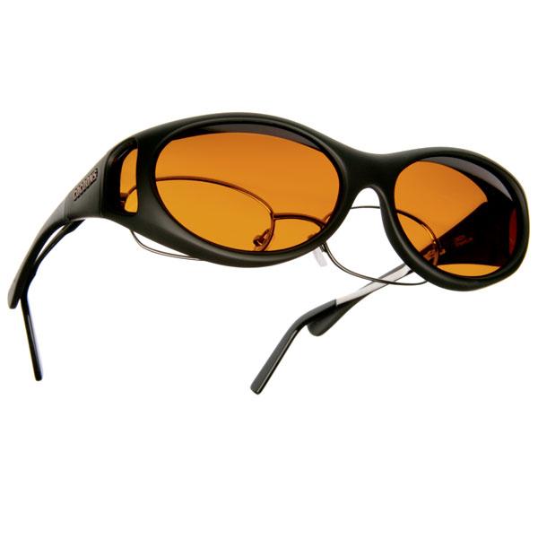 Cocoons Low Vision S-Black Frame-Hazelnut Lens