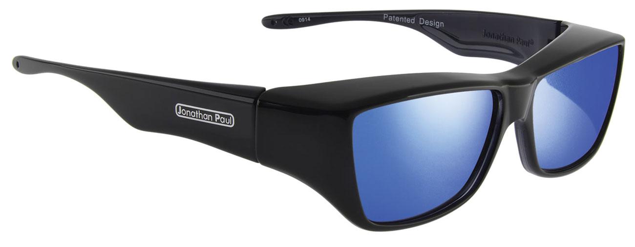 Neera Midnite Oil Fit Over Sunglasses- Polarvue Blue Mirror