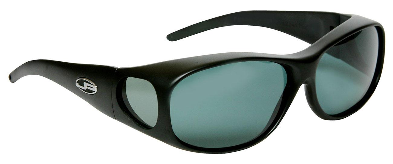 Element Matte Black Fit Over Sunglasses- Polarvue Gray