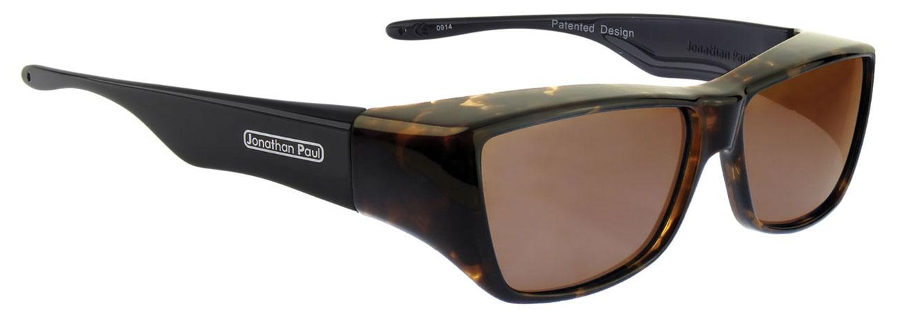 Neera Leopard Black Fit Over Sunglasses- Polarvue Amber