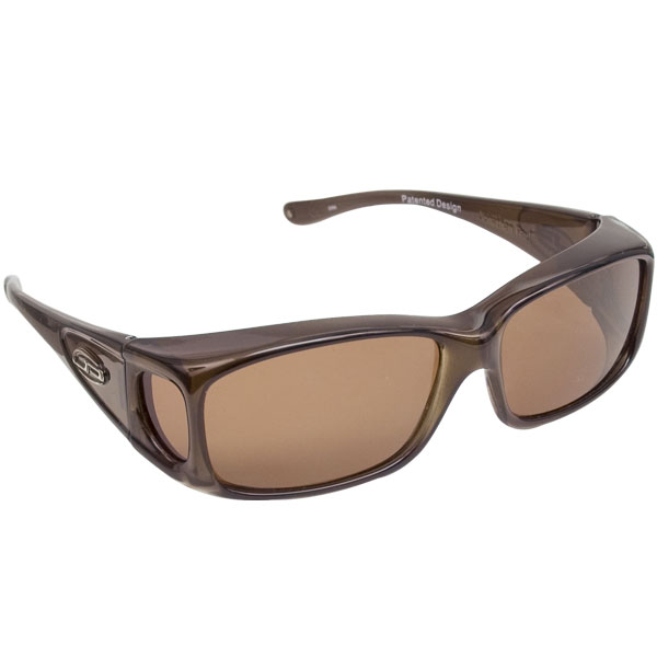 Razor Olive Charcoal Fit Over Sunglasses - Polarvue Amber