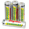 4 AA NiMh Batteries