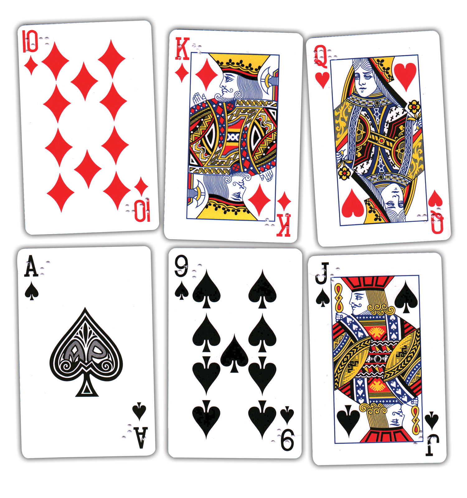 Pinochle Playing Cards Brailled