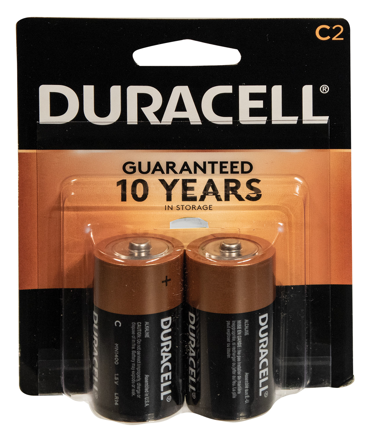 Duracell 2 C Batteries
