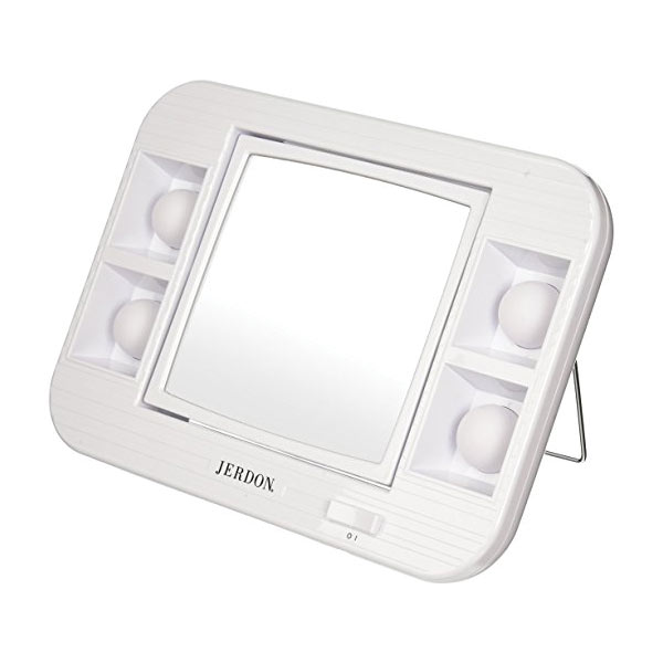 LED Lighted Makeup Mirror with 5x Magnification- White