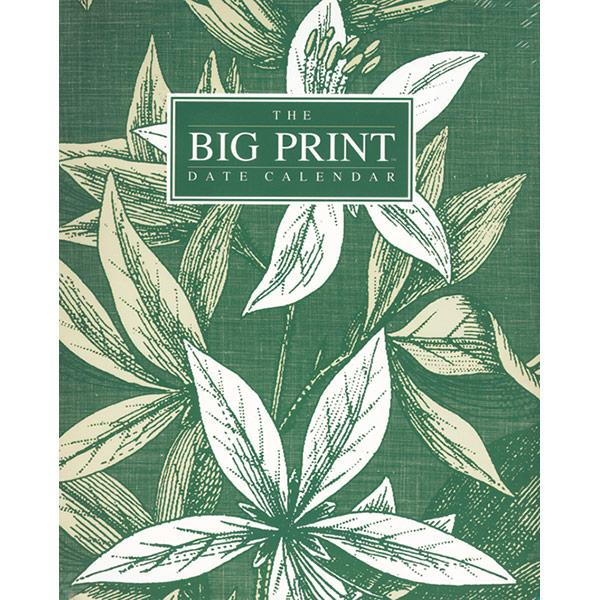 The Big Print Date Calendar - 2021