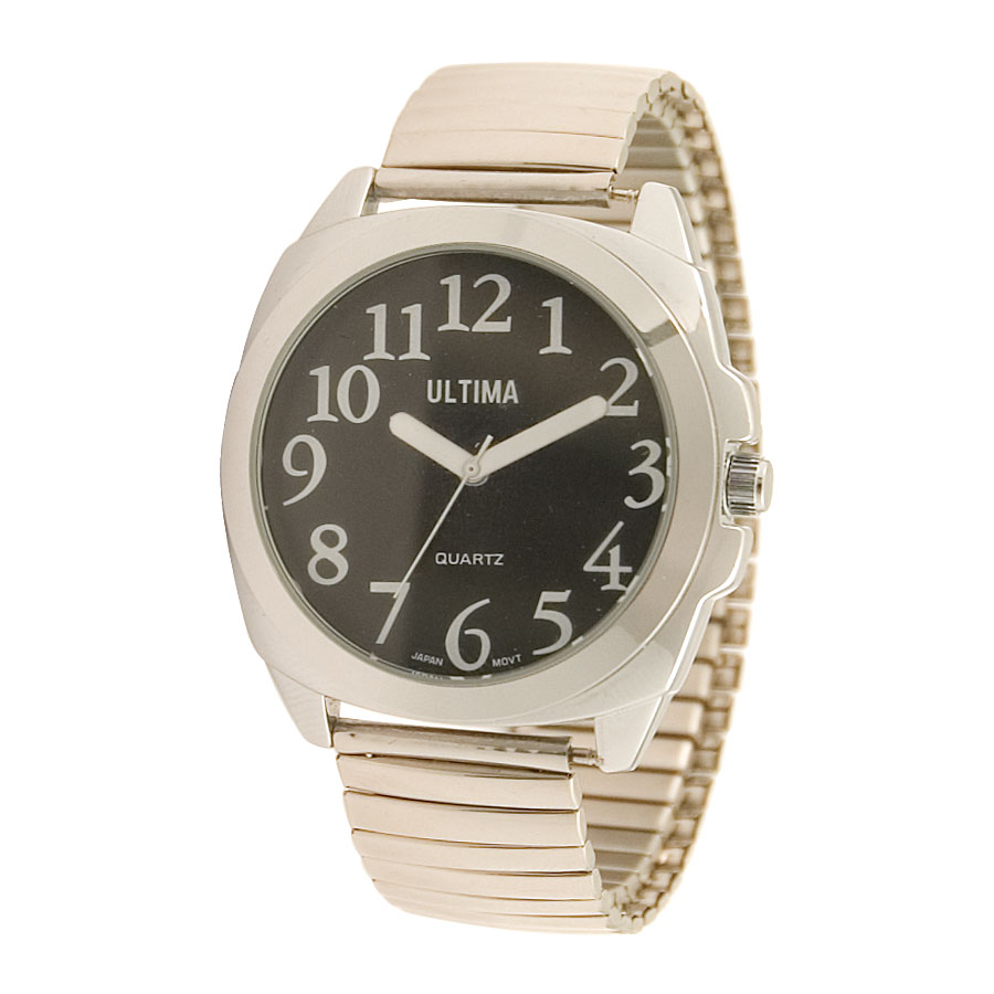 Ultima Low Vision Watch - Black Dial - Expansion Band - Unisex