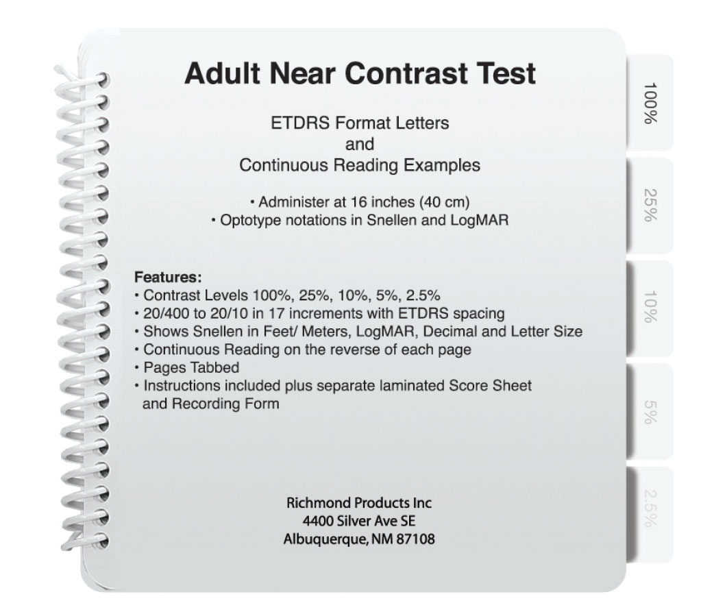 Near Contrast Test- For Adults