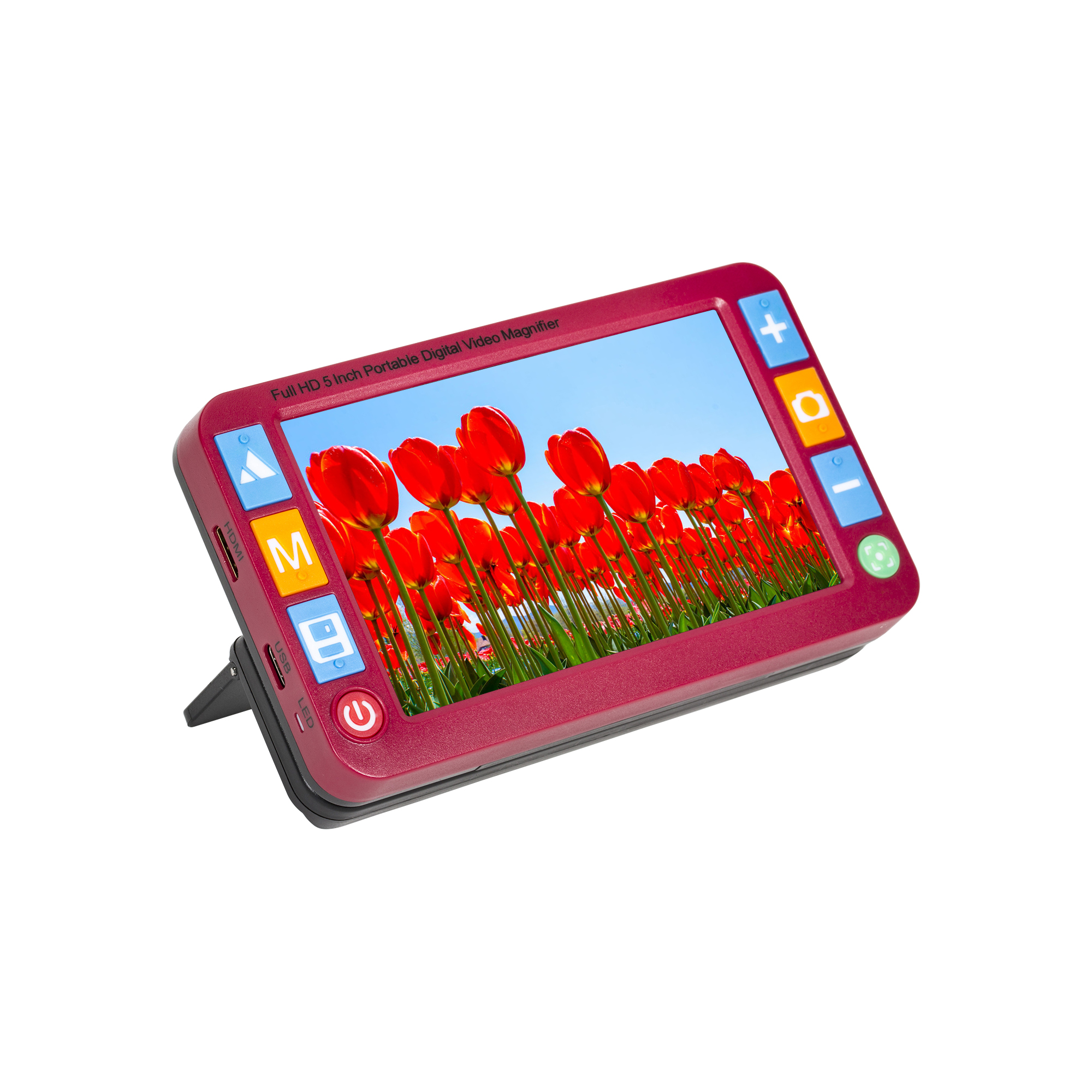 Reizen Portable Digital Video Magnifier with 5-inch LCD- Red
