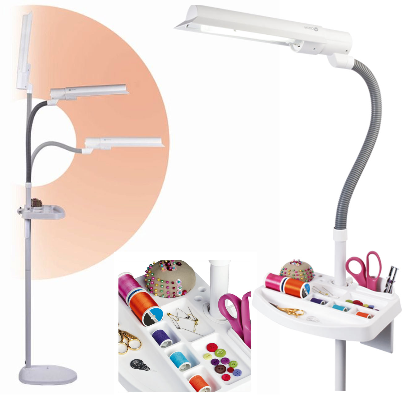18W Sewers Floor Lamp with Storage Tray