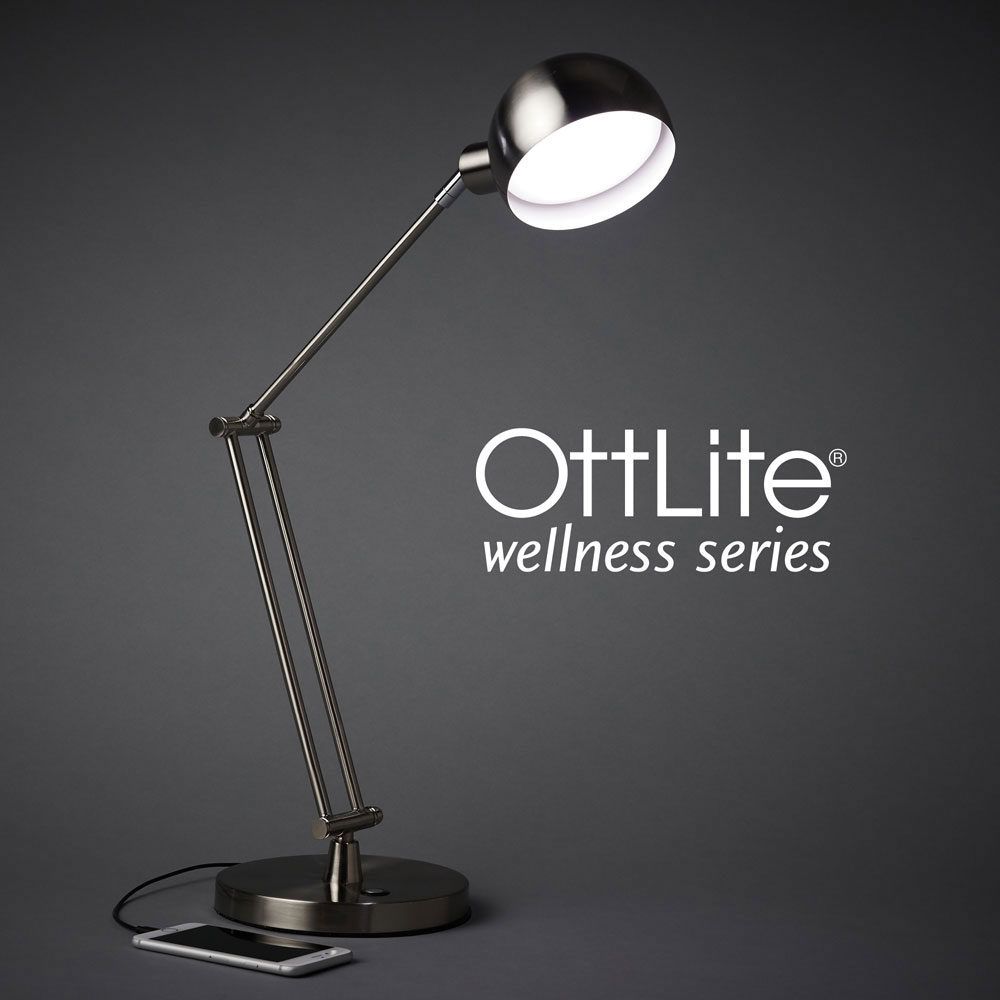 Ott-Lite Refine LED Desk Lamp - Nickel