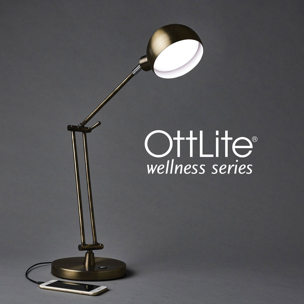 Ott-Lite Refine LED Desk Lamp - Brass