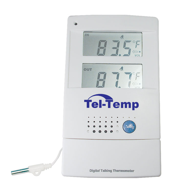 Tel-Temp Talking Indoor-Outdoor Thermometer