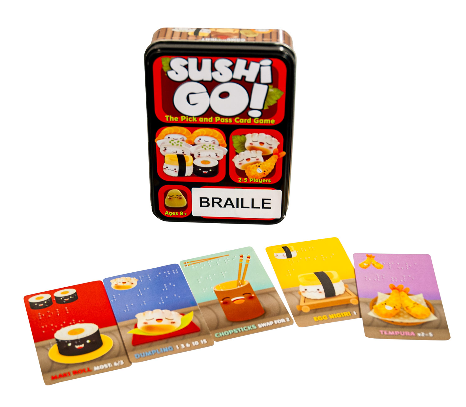 Sushi Go Braille Card Game