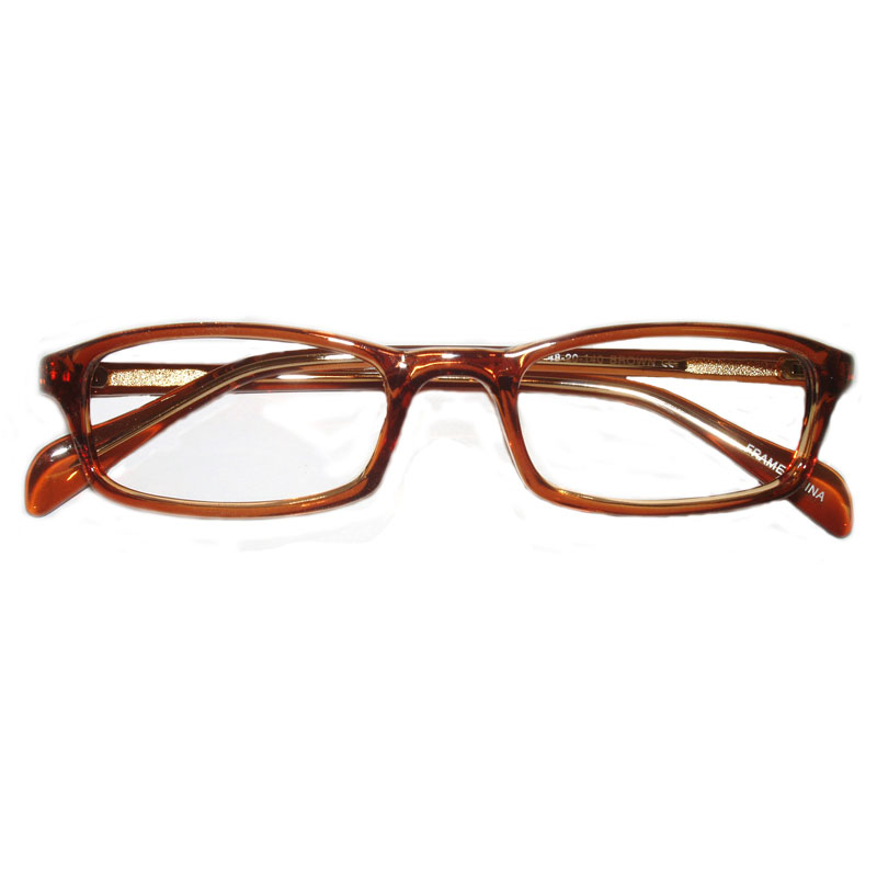 Prismatic Spectacles 10D with 12 Base in Prism 48mm Frame Brown