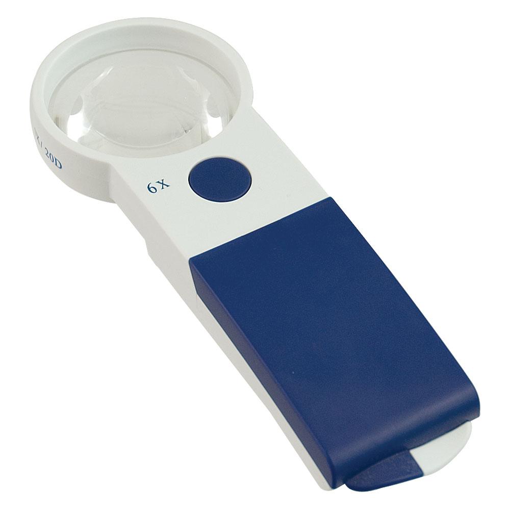 Reizen EZ Touch 6X 20D LED Handheld Magnifier - Round Lens 57mm