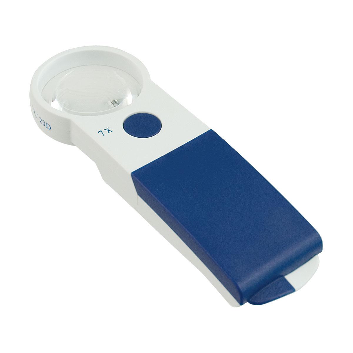 Reizen EZ Touch 7X 23D LED Handheld Magnifier - Round Lens 50mm