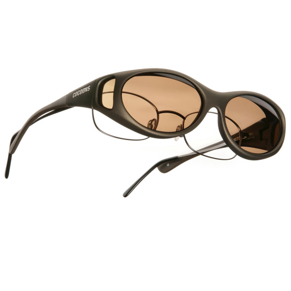 Cocoons S Stream Line OveRx Sunwear-Sand Fr-Amber Lens