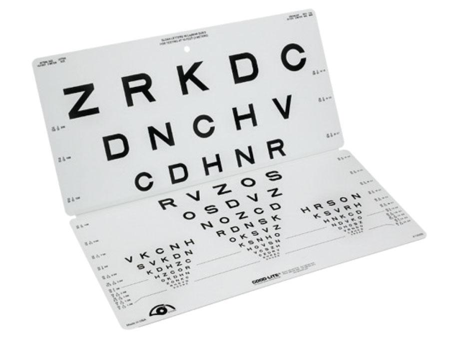 Sloan Letters Folding Eye Chart